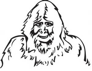 Sasquatch coloring #8, Download drawings