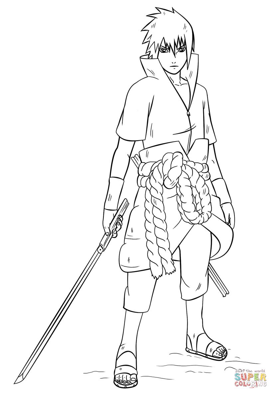 Sasuke Uchiha coloring #19, Download drawings