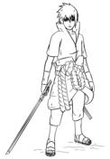 Sasuke Uchiha coloring #2, Download drawings