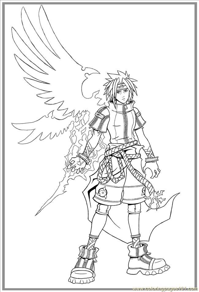Sasuke Uchiha coloring #10, Download drawings