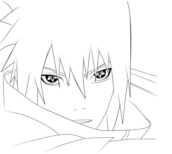 Sasuke Uchiha coloring #18, Download drawings