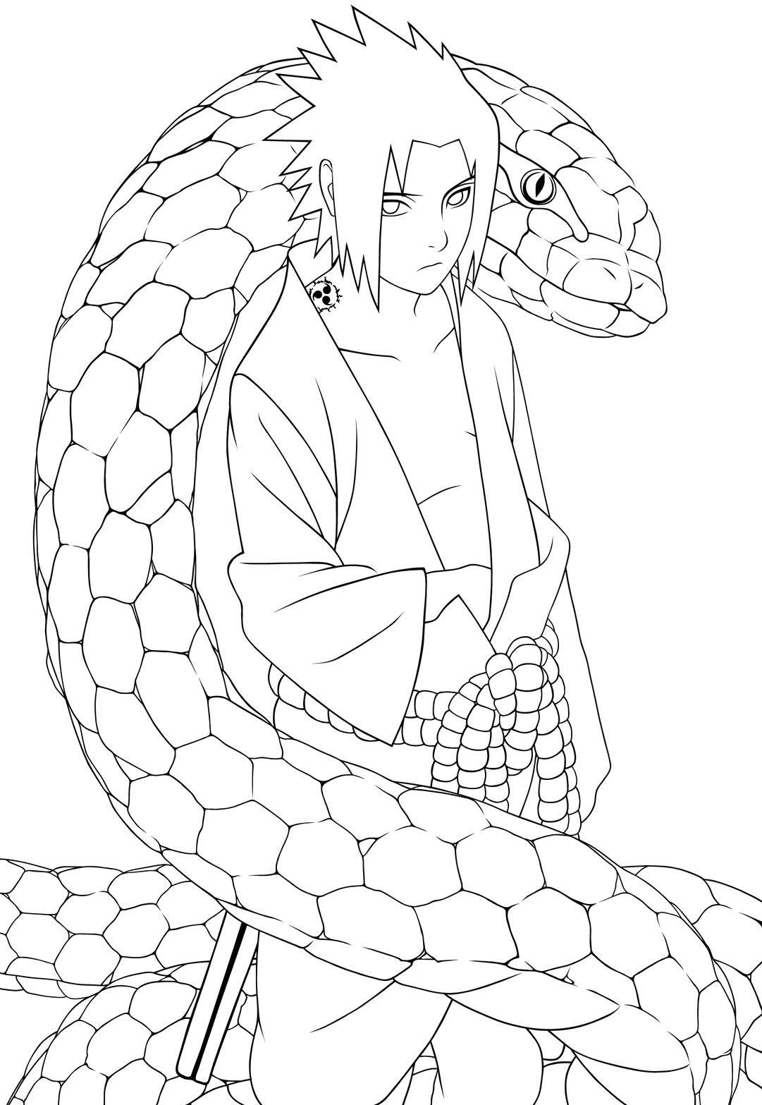 Sasuke Uchiha coloring #11, Download drawings