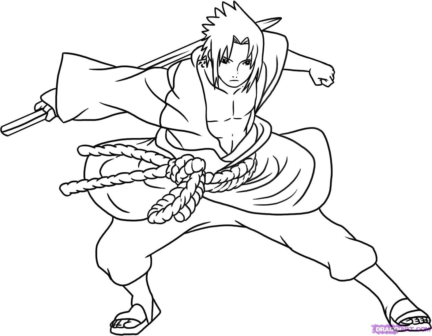 Sasuke Uchiha coloring #12, Download drawings