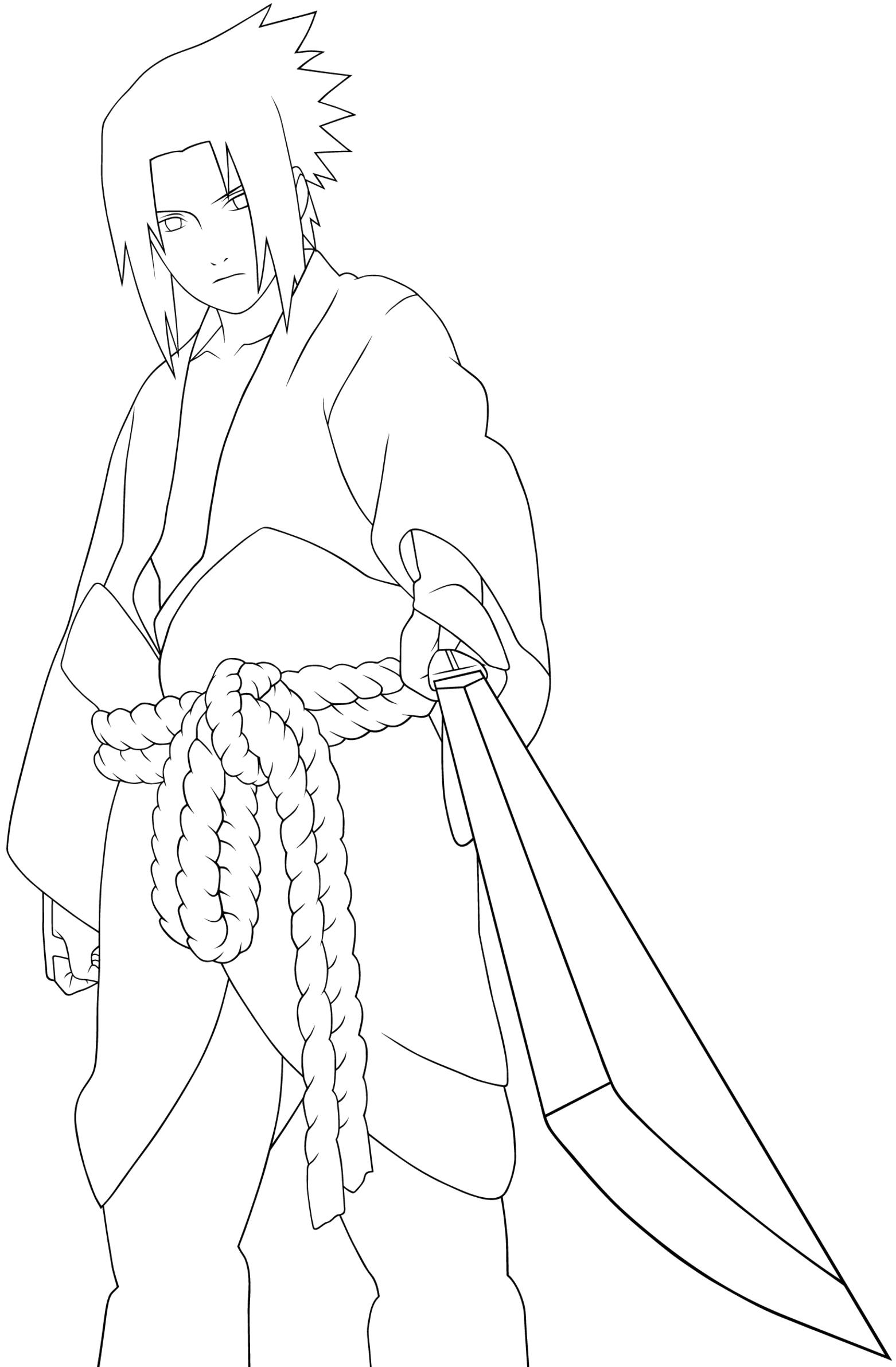 Sasuke Uchiha coloring #7, Download drawings