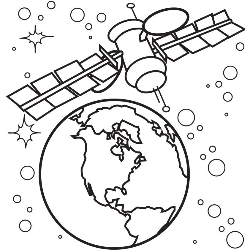 Satelite coloring #3, Download drawings