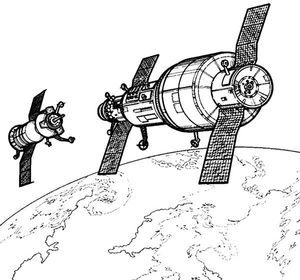 Satelite coloring #5, Download drawings