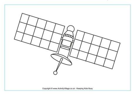Satellite coloring #8, Download drawings
