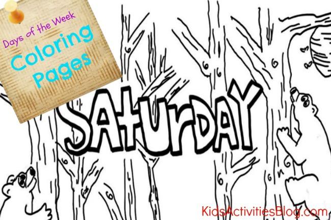 Saturday coloring #1, Download drawings