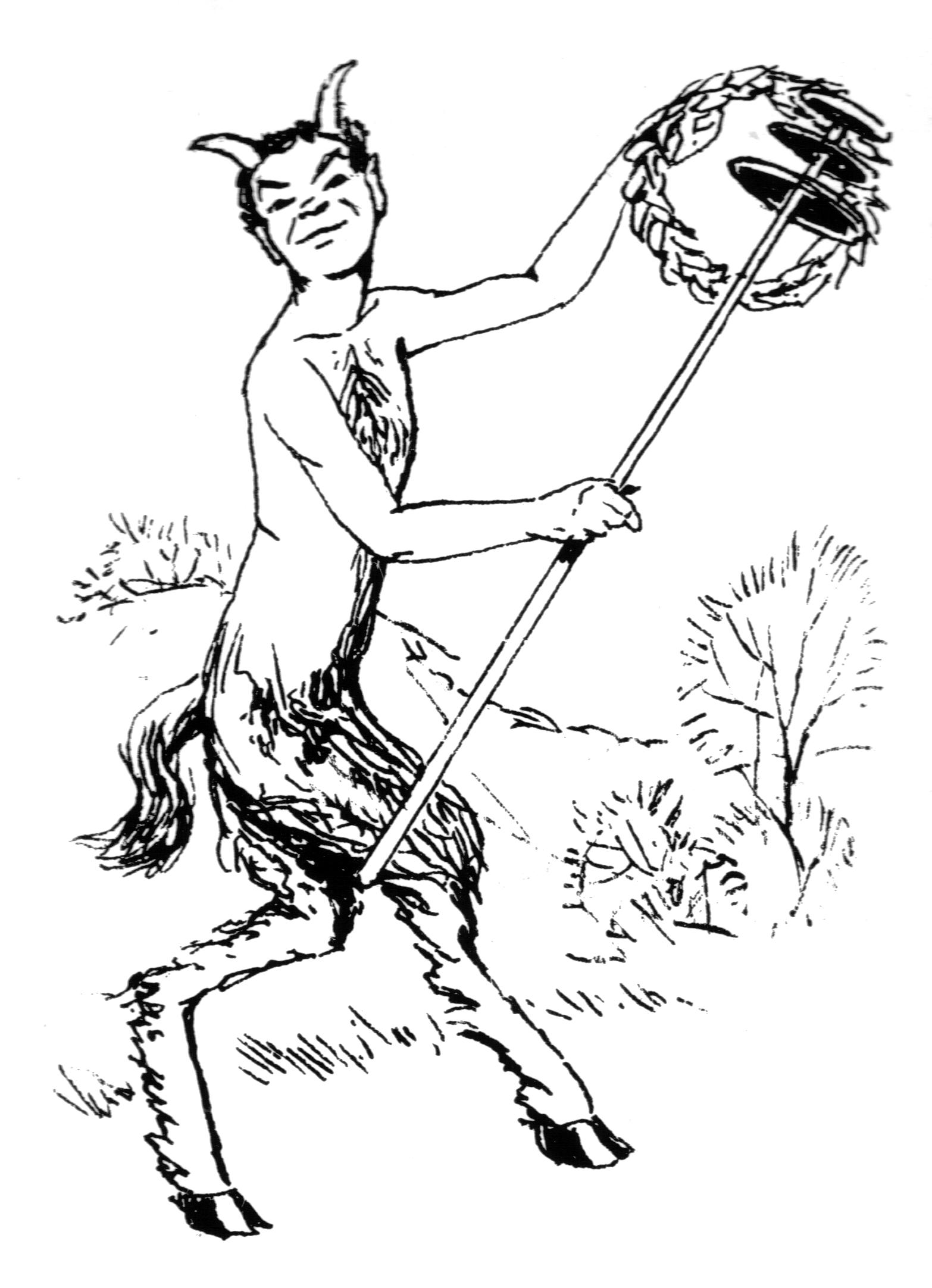 Satyr coloring #9, Download drawings