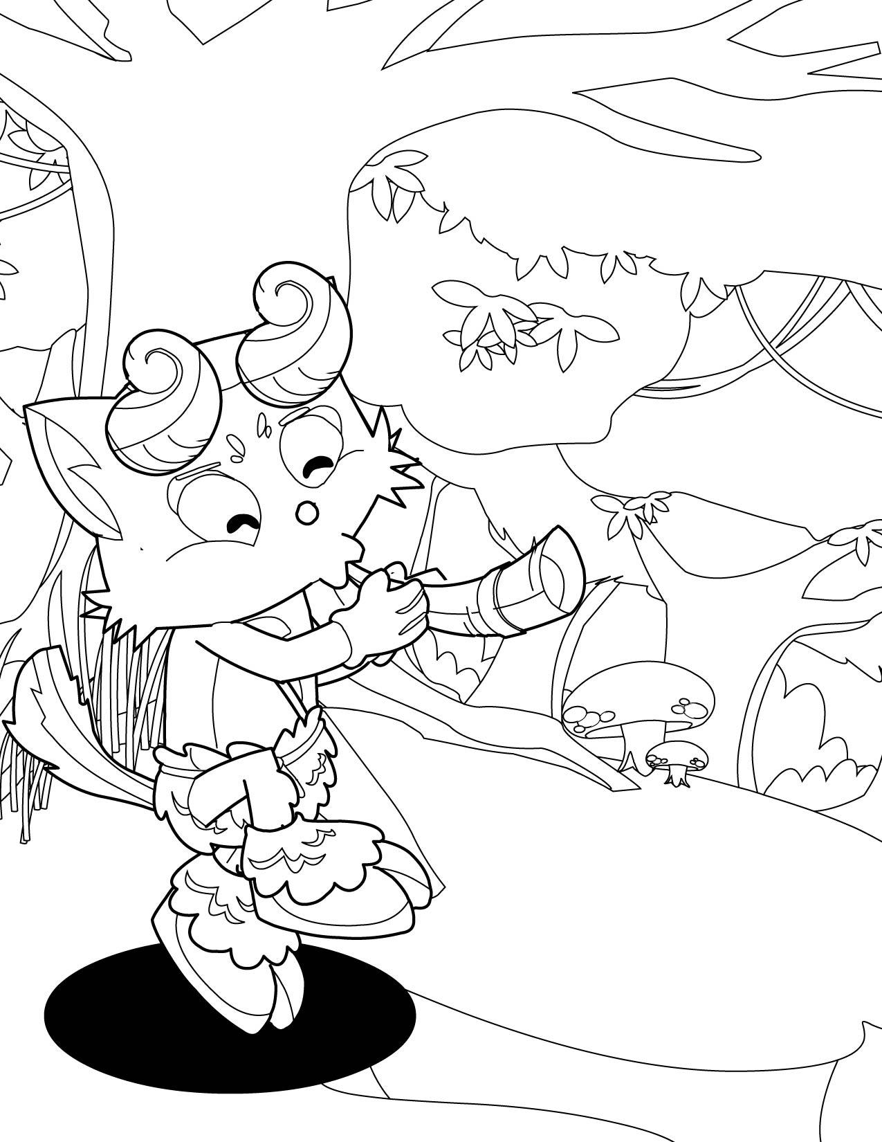 Satyr coloring #3, Download drawings