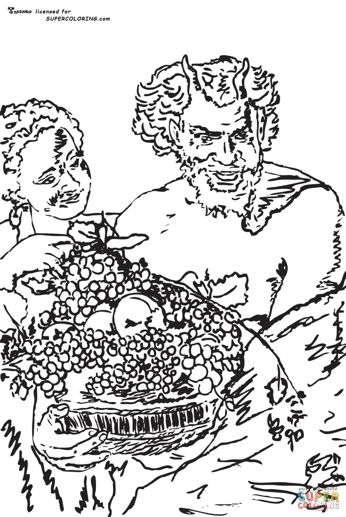 Satyr coloring #2, Download drawings