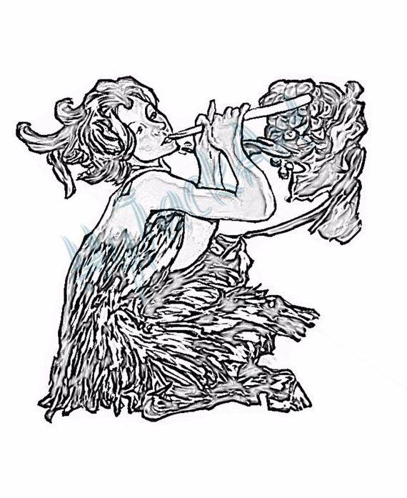 Satyr coloring #10, Download drawings