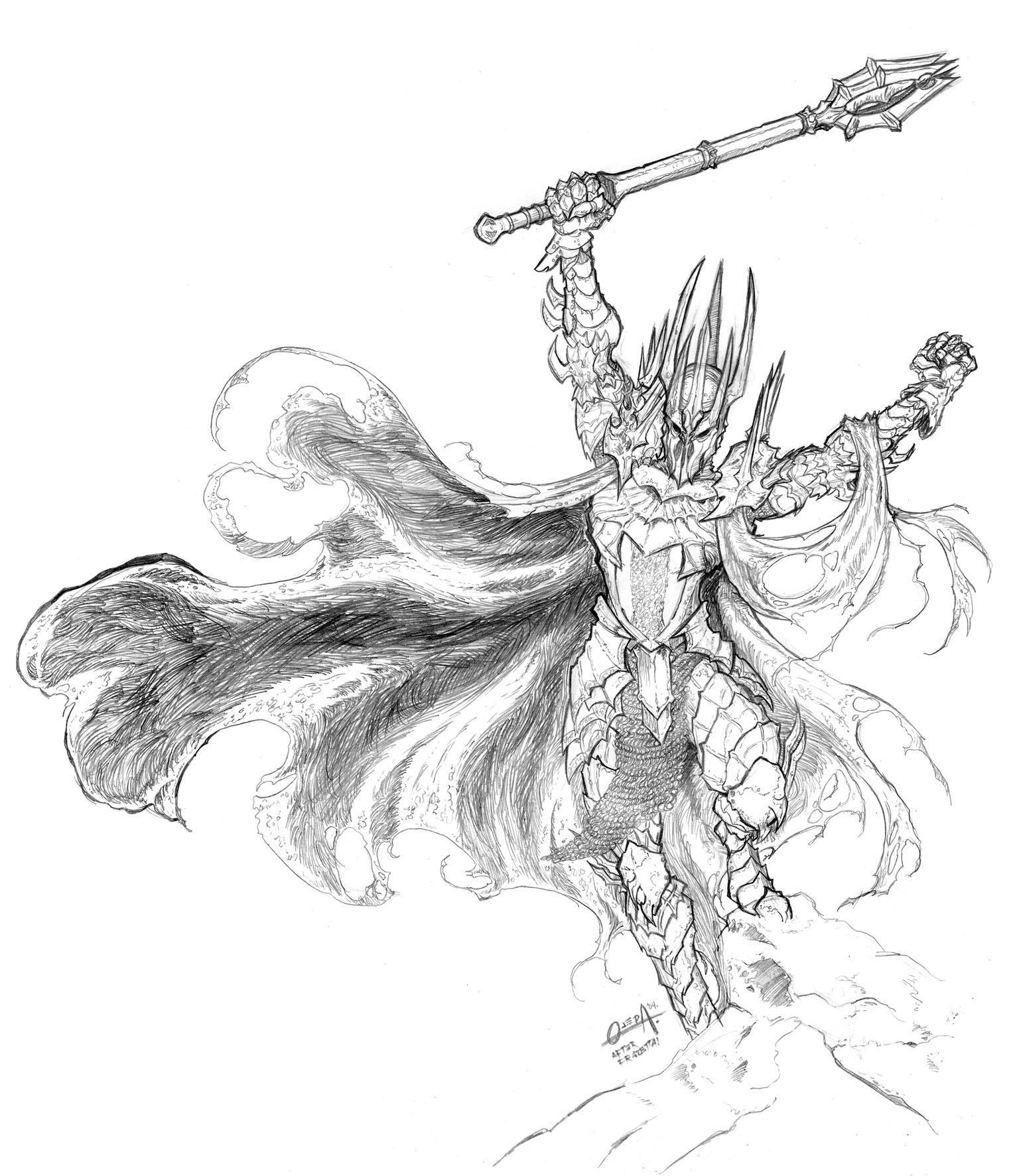 Sauron coloring #2, Download drawings