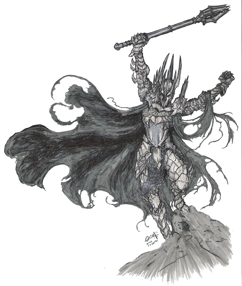Sauron coloring #4, Download drawings