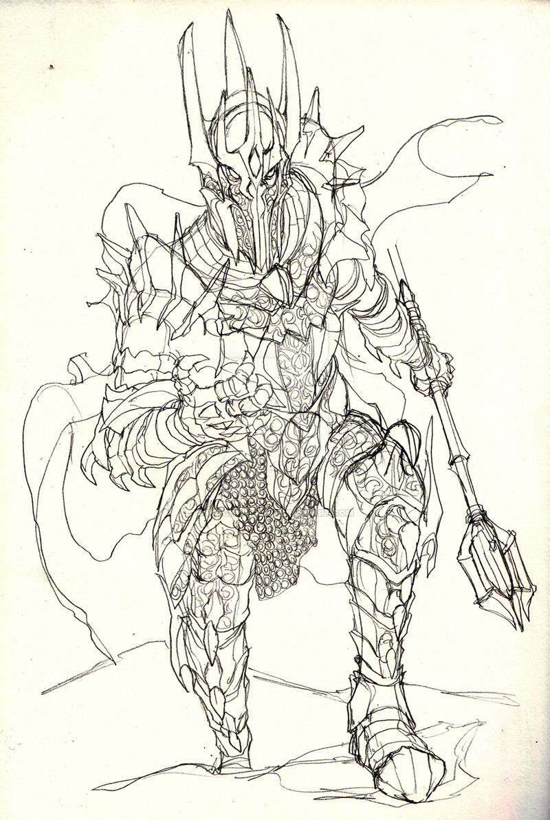 Sauron coloring #1, Download drawings