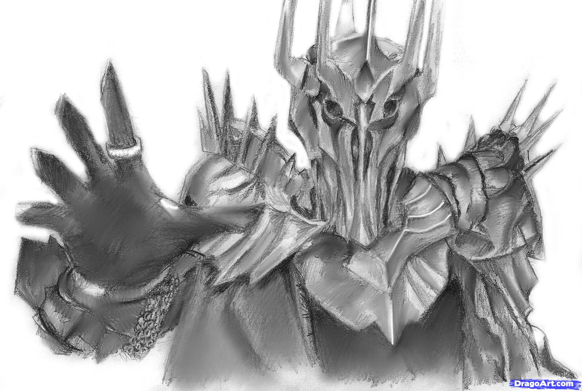 Sauron coloring #7, Download drawings