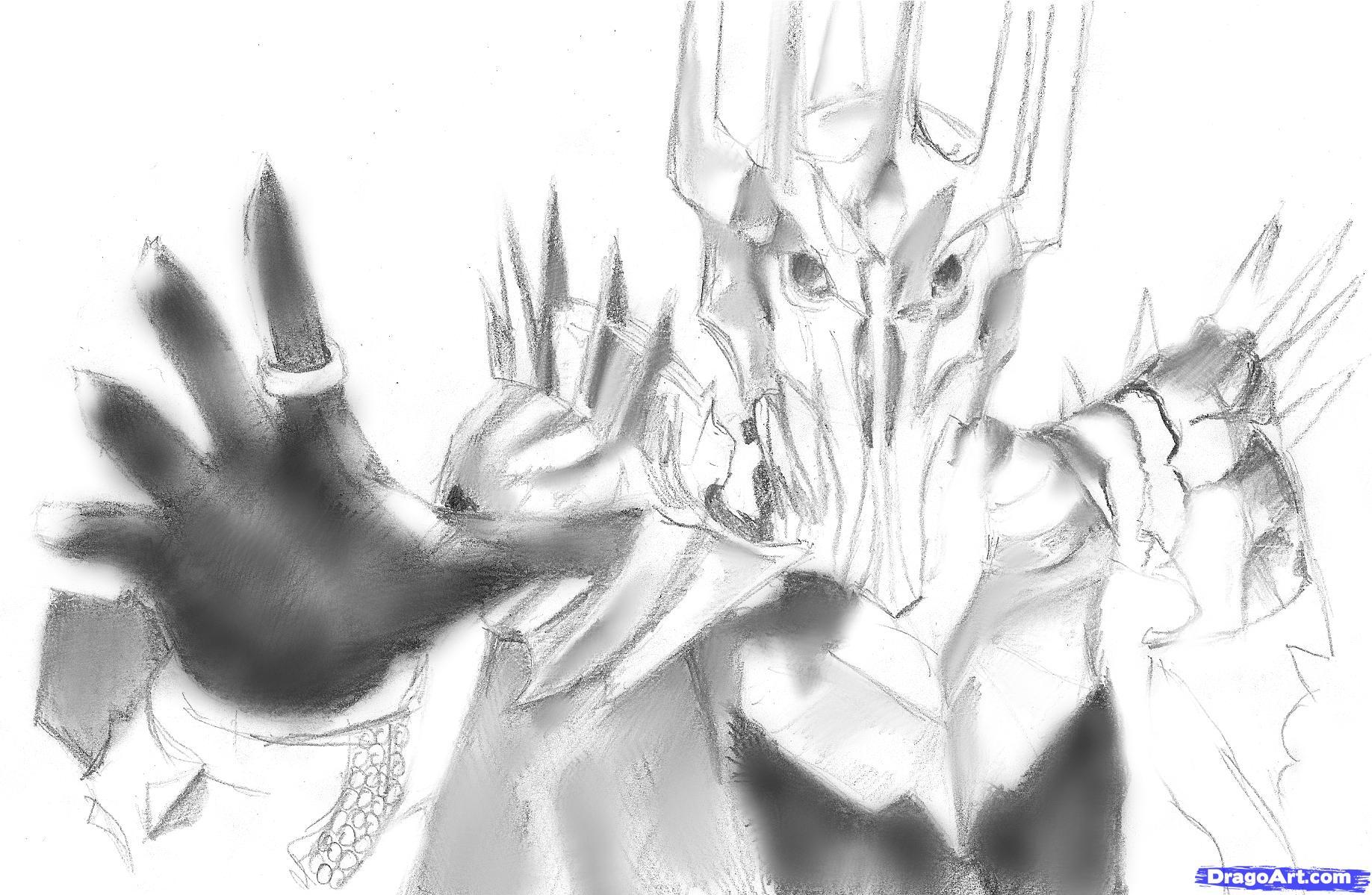 Sauron coloring #6, Download drawings