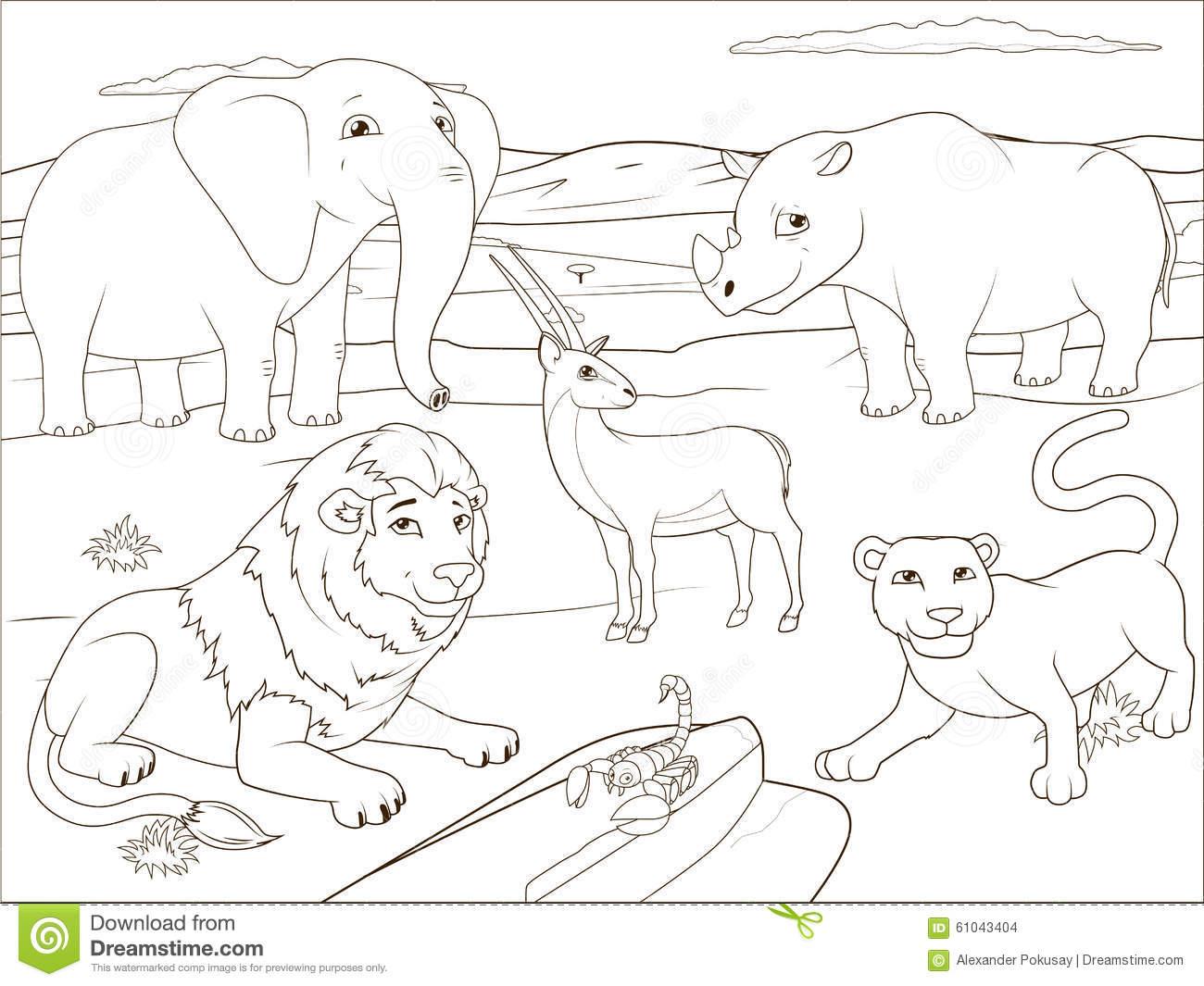 Savannah coloring #17, Download drawings
