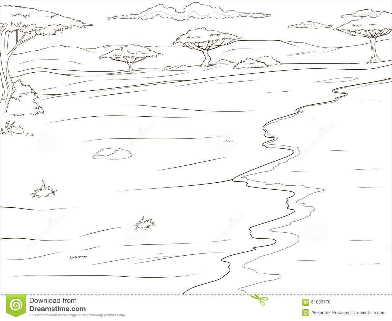 Savannah coloring #2, Download drawings