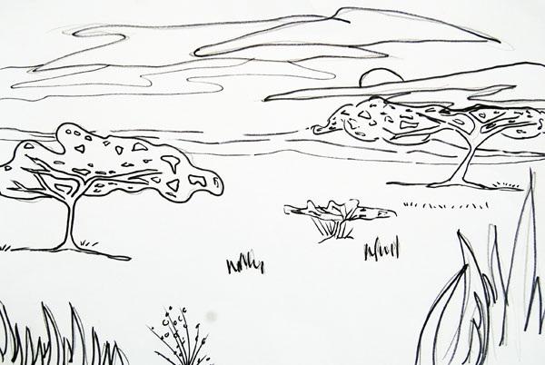Savannah coloring #19, Download drawings
