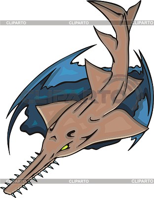 Sawfish clipart #2, Download drawings