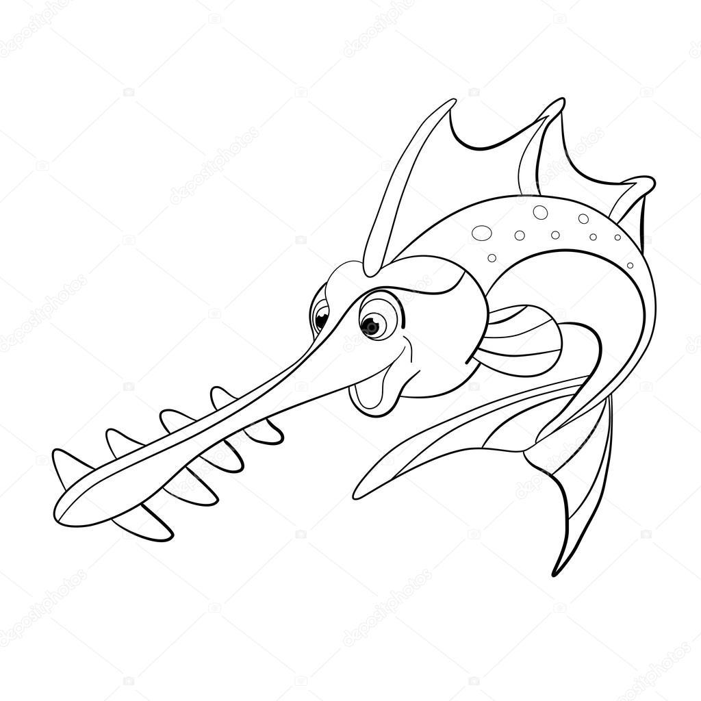 Sawfish coloring #4, Download drawings