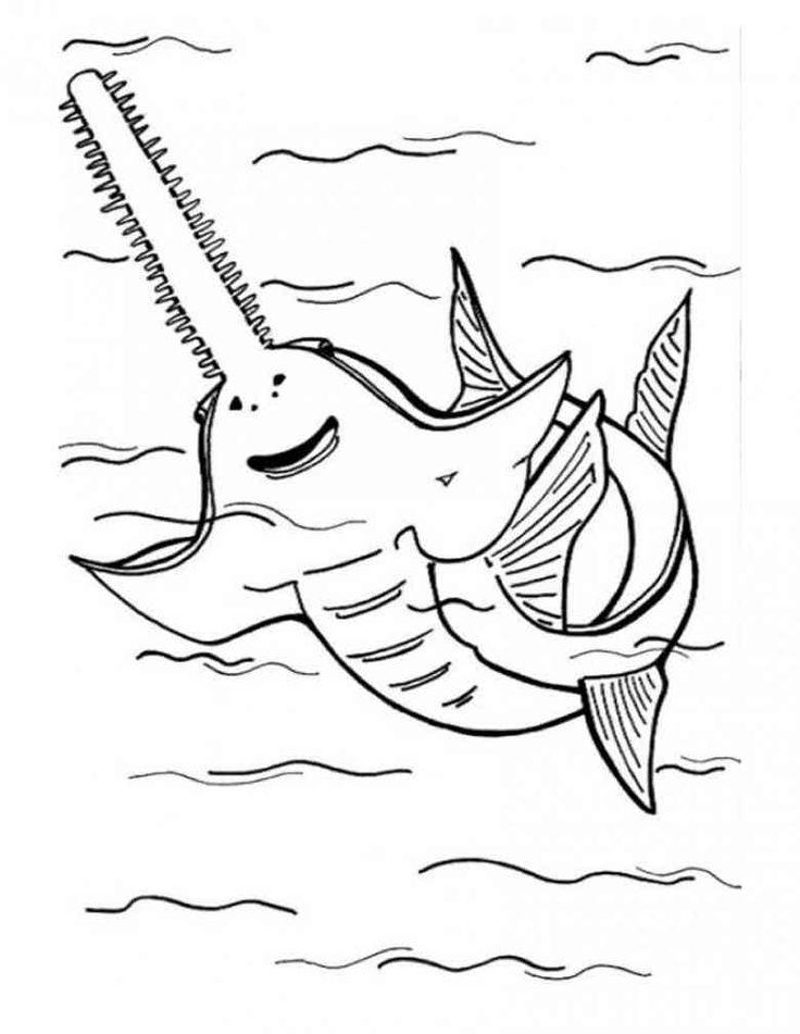 Sawfish coloring #3, Download drawings