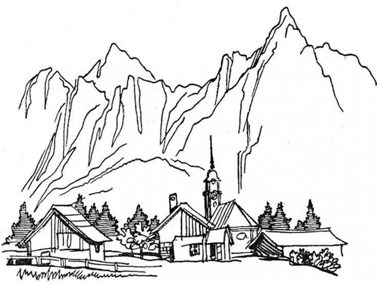 Sawtooth Mountans coloring #19, Download drawings