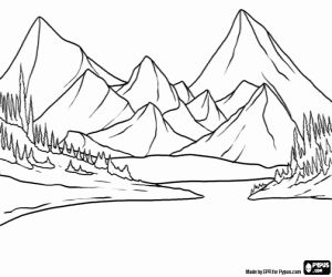 Sawtooth Mountans coloring #18, Download drawings