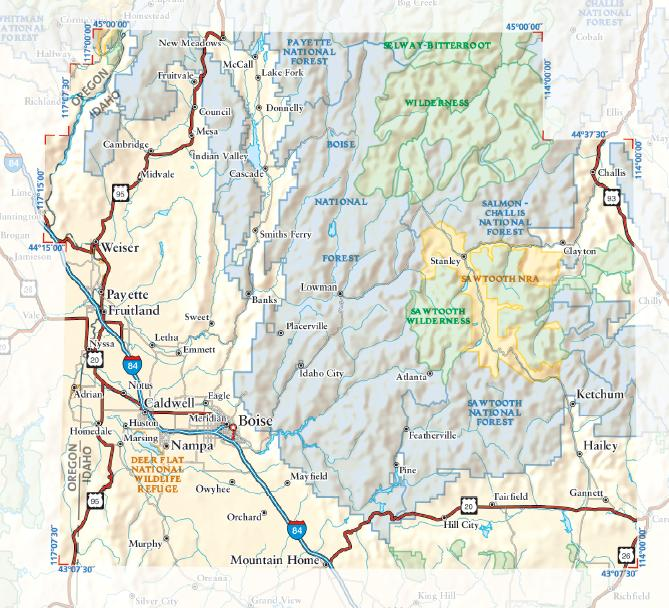 Sawtooth National Recreation Area coloring #18, Download drawings