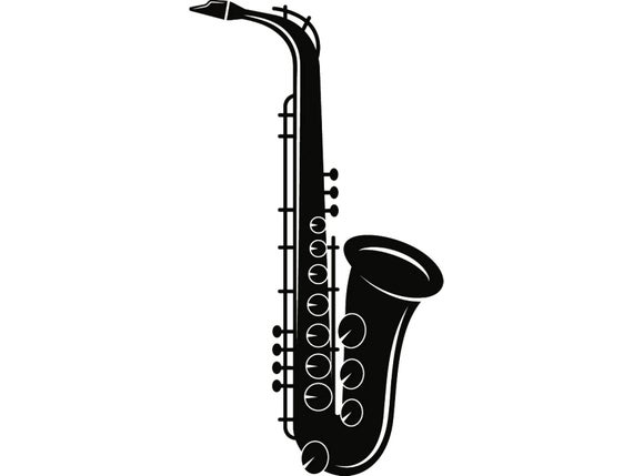saxophone svg #635, Download drawings