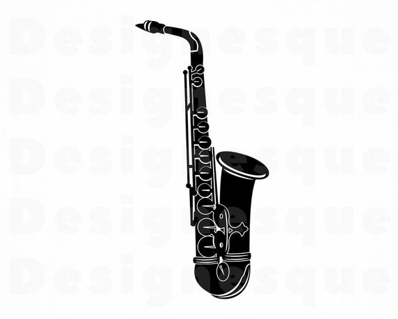 saxophone svg #643, Download drawings