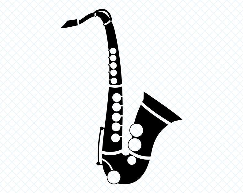saxophone svg #641, Download drawings