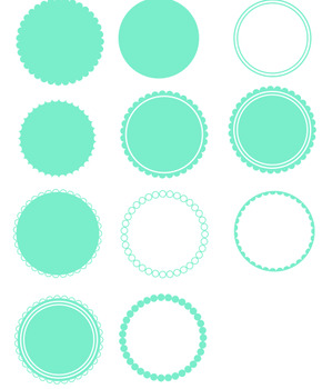 scalloped circle svg #565, Download drawings