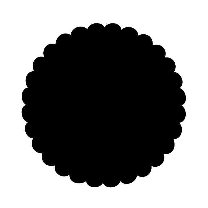scalloped circle svg #573, Download drawings