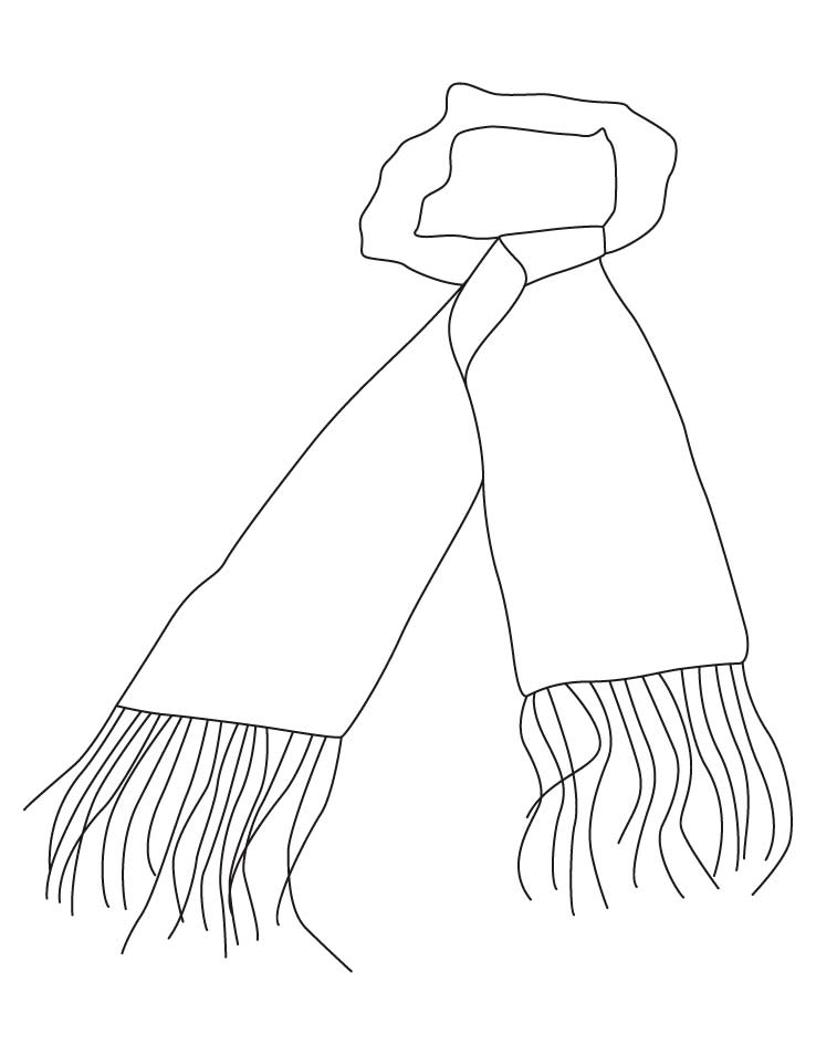 Scarf coloring #10, Download drawings