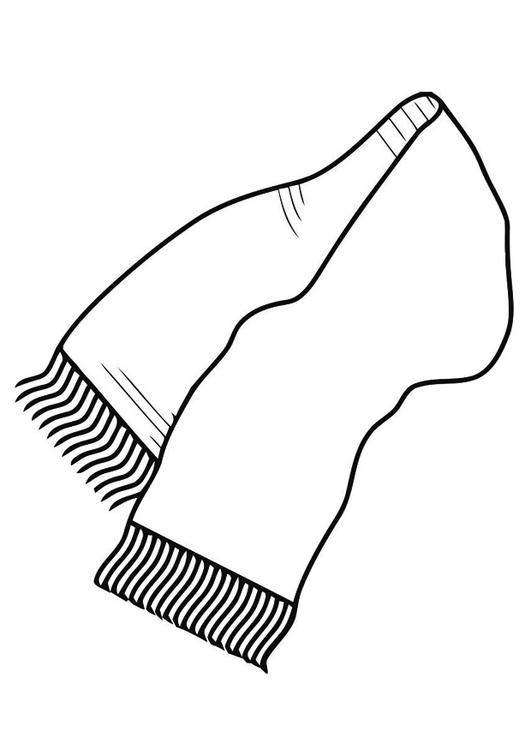 Scarf coloring #13, Download drawings