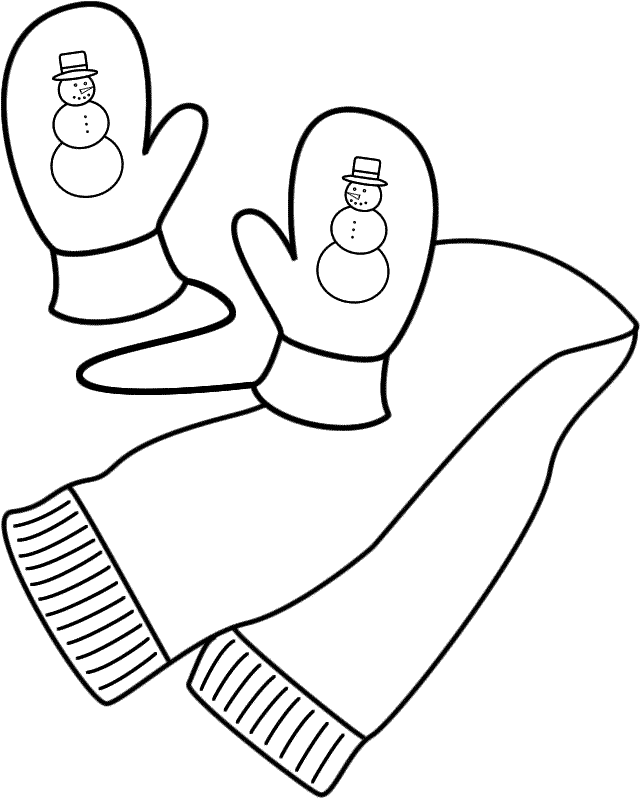 Scarf coloring #8, Download drawings