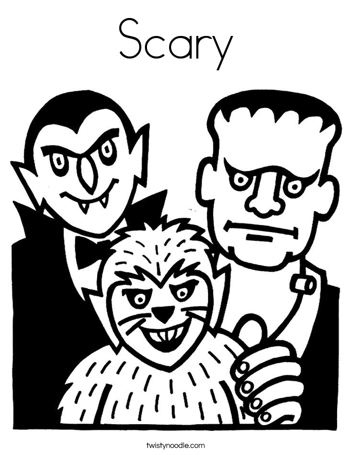 Scary coloring #6, Download drawings