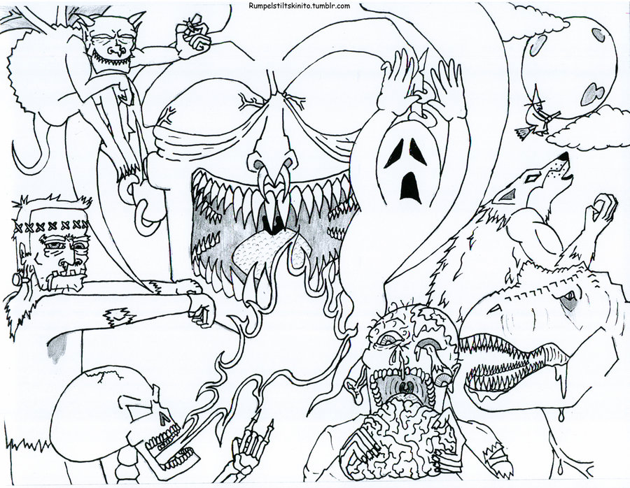 Scary coloring #19, Download drawings