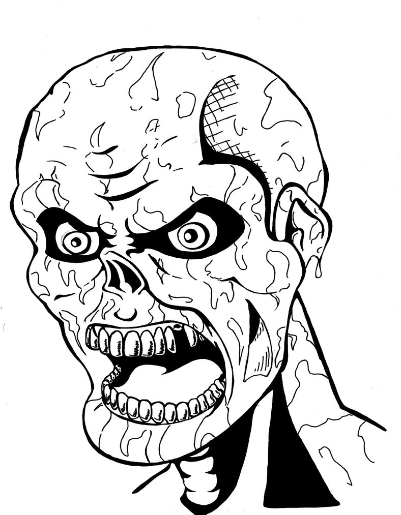 Scary coloring #3, Download drawings
