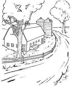 Scenery coloring #4, Download drawings