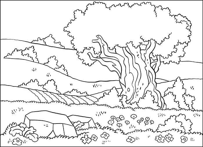 Scenery coloring #12, Download drawings