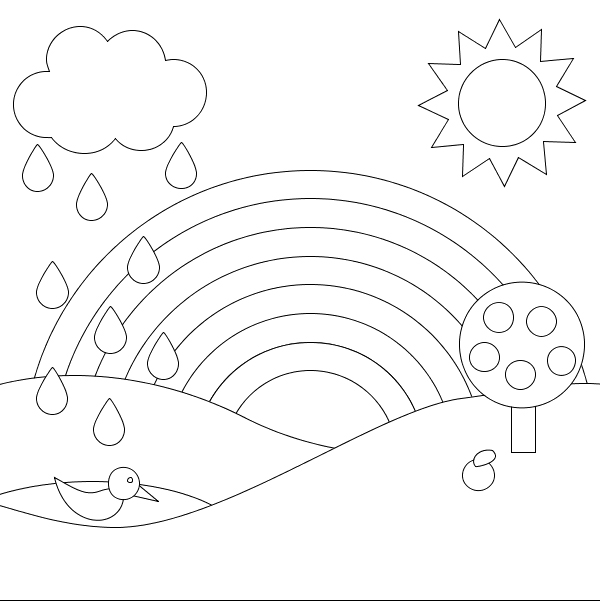 kids coloring pages scenery hill - photo#29