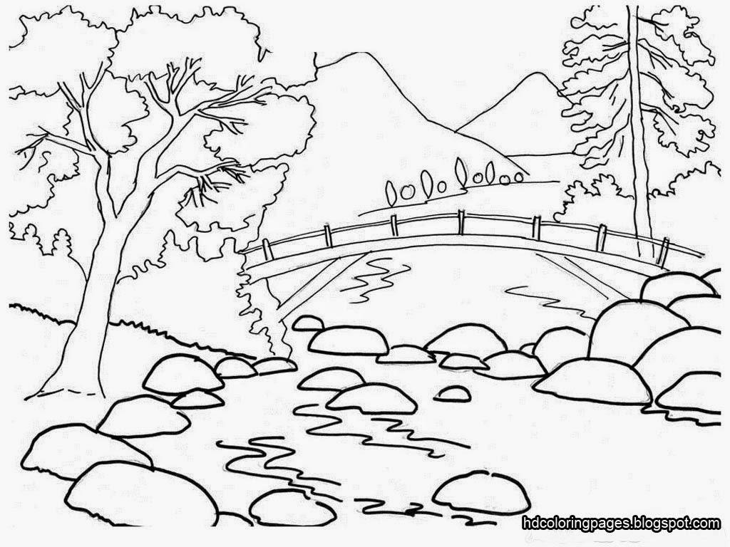 Scenery coloring #6, Download drawings