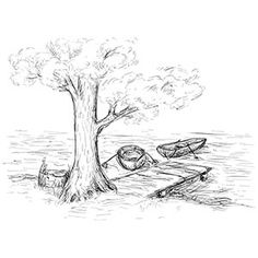Scenery coloring #2, Download drawings
