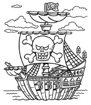 Schooner coloring #4, Download drawings