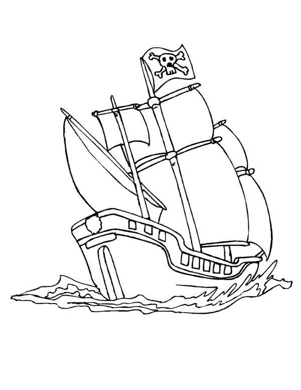 Schooner coloring #19, Download drawings