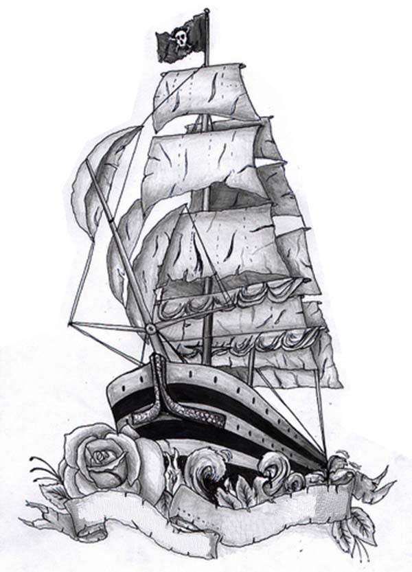Schooner coloring #14, Download drawings