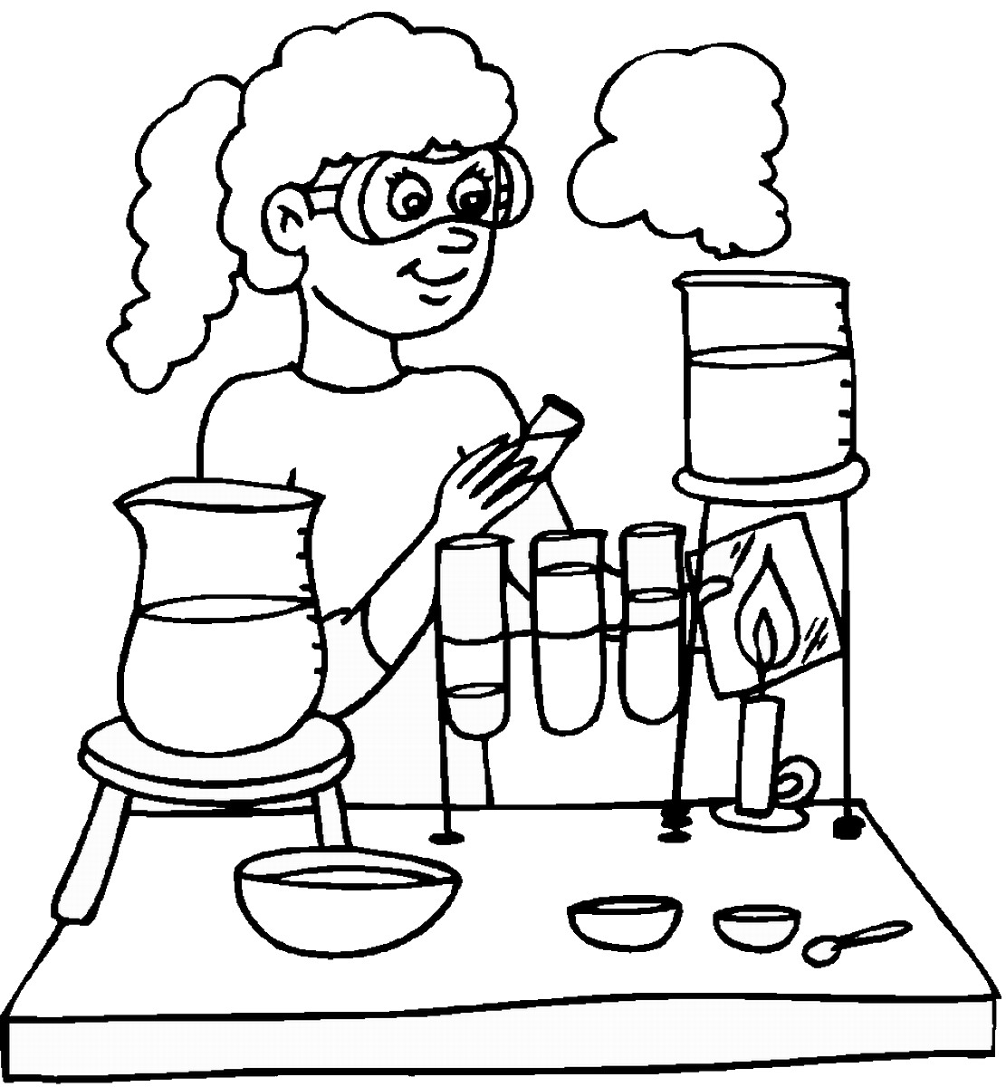 Science coloring #19, Download drawings